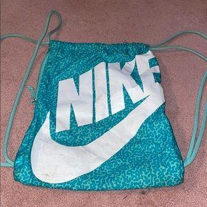 NIKE Drawstring real cheetah print bag